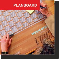 Planboard skriveunderlag med kalender